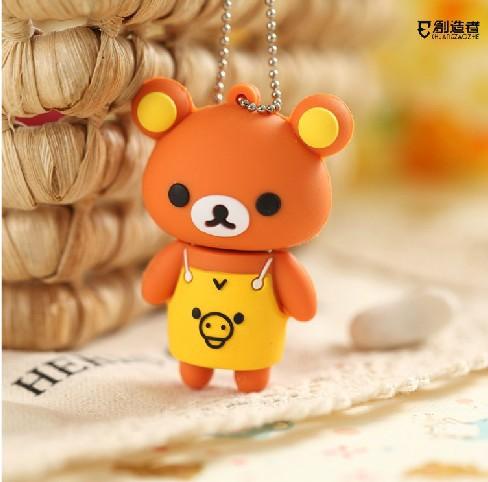 Wholesales 10 pcs/lot New cartoon mini bear model usb 2.0 memory flash stick pen disk/thumbdrive/car/gift(China (Mainland))