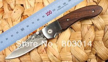 Bone Handle High-carbon stainless Handmade Damascus Custom Forged Steel Pocket Folding Knife wood handle B0120