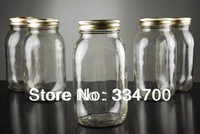 HOT BUY 2 LOTS 20% DISOCUNT!6.7'H GLASS MASON JAR IN CLEAR  USD84 FOR 12PCS/EACH USD7.00