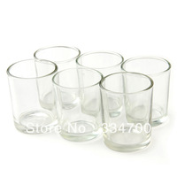 """2.65""""H GLASS VOTIVE CANDLE HOLDER IN CLEAR  USD34.80 FOR 24PCS/EACH USD1.24"""