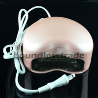 Pink 3W LED Lamp Soak-off Gel Polish Nail Cure UV Dryer 110V,220V_KD171P