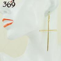 2013 wholsale the latest fashion long cross drop earrings for women gift