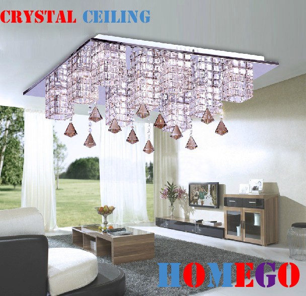 Modern brief crystal lamp ceiling light living room lights lighting lamps H8150G ,Diameter :62 CM ,High: 18 CM(China (Mainland))