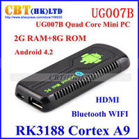 2013 new-arrival in May UG007B RK3188  Android Quad Core mini pc Cortex A9 2GB RAM 8GB ROM ug007 b freeshipping