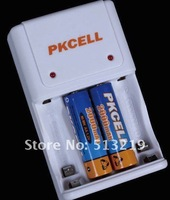 Pkcell Standard Battery Charger 8143 for AA/AAA NI-MH/NI-Cd rechargeable battery Free Shippping