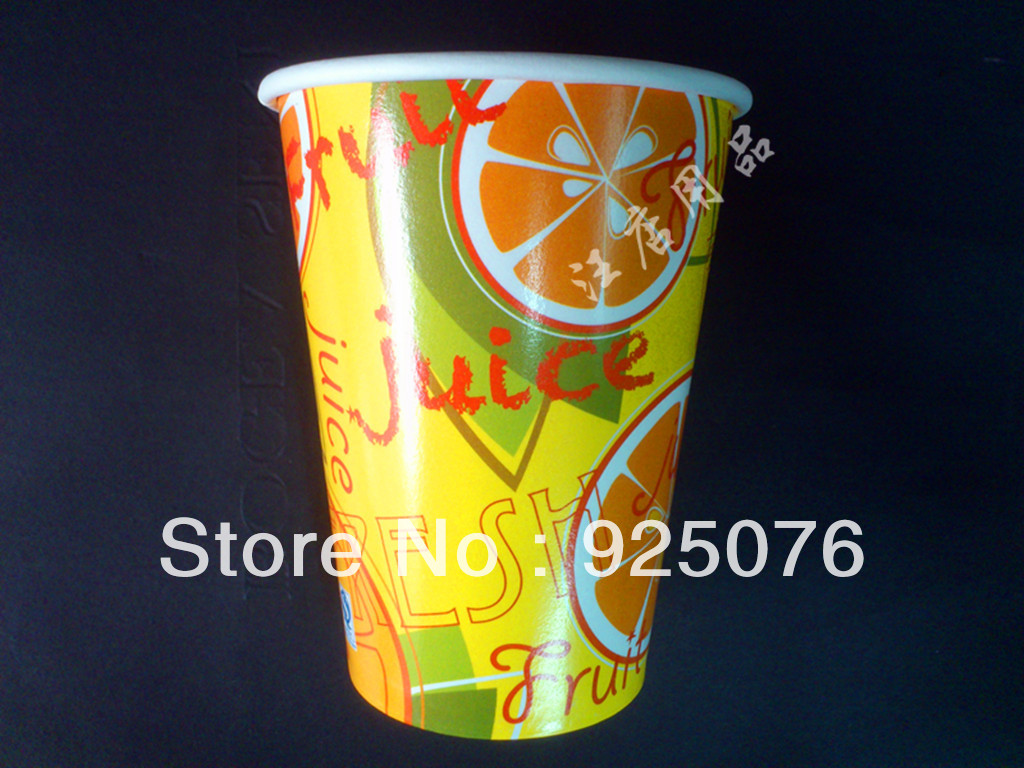 free shipping,Wholesale 2000 pcs/lot 12oz disposable paper 350ml coffee juice tea sand ice cup(China (Mainland))