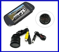"Automobile rear camera with 7"" Car monitor night vision water-proof back up parking assist system parking sensor"