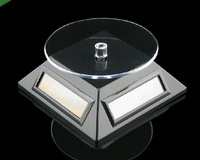 Free shipping 20pcs Solar Powered Turntable Rotary Jewelry Display Stand