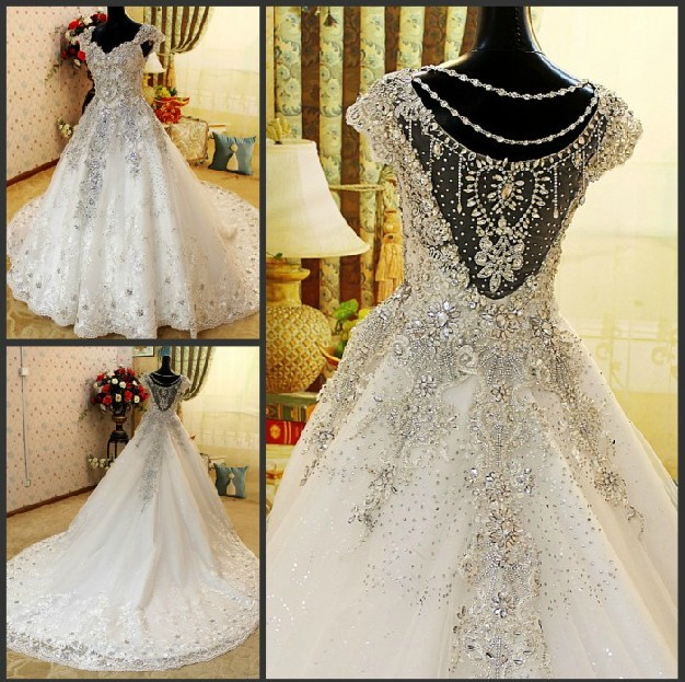 free shipping new style wholesale beaded spaghetti strap ball gown ruffle princess wedding dresses xj01122(China (Mainland))