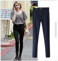 Europe Style Hot Sale 2014 New Fashion AA Elastic High Waist Hip Lift Skinny Women Jeans W072