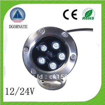 Hot sale~~ New 12V /24V 5W LED Pool Light, LED Underwater Light 5W IP68 RGB COLOR.