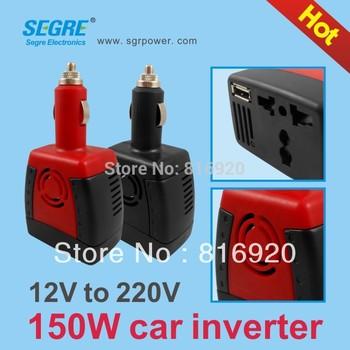 150W dc 12v to ac 220v cigarette lighter inverter power converter Hot selling Free Shipping.