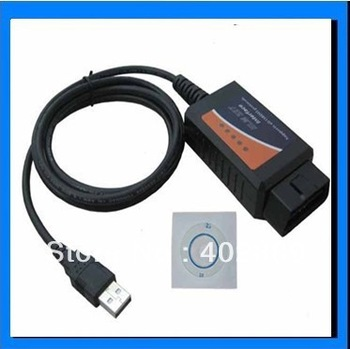 Car Diagnostic tool OBD II scan cable ELM327 USB auto scanner,free shipping and new version free shipping