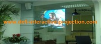 1 square meter (1.524 m * 0.66 m ) dark  Gray color rear adhesive projection screen film the best quality in China