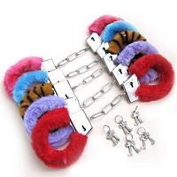 Sexy Soft Furry Steel Fuzzy Fur Wrist Dress Valentines love Gift Toy,2pcs/lot,5 color can select,free shipping