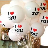 FREE SHIPPING 2014 married wedding balloon 12 circle thickening you balloon   100pcs/bag