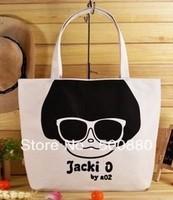 Free shipping unisexual multi-printing artwork canvas handbag causal hangbag 22 designs available 2pcs/lot