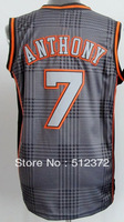 Free Shipping!!! #7 Carmelo Anthony #9 Ricky Rubio Rhythm jersey , Embroidered Logo ( all name number stitched!!)
