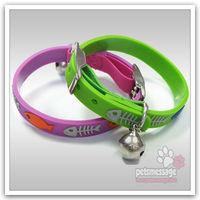 Dog Cat Collar Bell Safty PVC Leather Small Dog Collar  Black Pet Product Free Shipping Wholesale MOQ 20pcs/lot