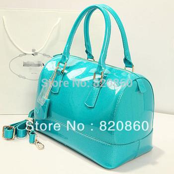 Fashion candy colors of star models candy tote bag Boston jelly pillow handbag women shoulder bag