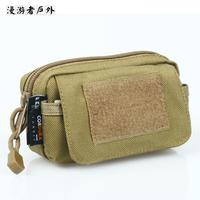 Free Soldier EDC Belt Bag Cordura YKK Molle Bag(Saco Da Cintura) Small Waist Pack Mobile Phone Black/Mud Color/ACU 13*8*5cm