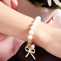 Free shipping New Design Fashion Luxury High quality imitation pearl beads chains Stretch bracelets jewelry for women 2014 PT36
