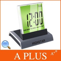 EMS Freeshipping 100PCS/Lot 7 LED Colour Digital ALARM CLOCK THERMOMETER Factory Price A PLUS