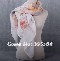 2013 Women Spring Butterfly Printed Square Rehinestone Scarf Women Big Size Shawsl Wraps Retail FREE SHIPPING