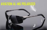 2014 polarized men brand designer driving car sun glasses sunglasses sport man fashion aluminum  MG Shield black real hot sale