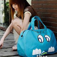 2013 female bag big cat cartoon canvas bag large capacity bags handbags fashion pink blue B027