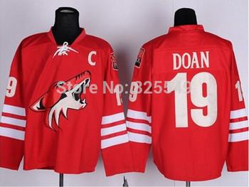 Free Shipping,Cheap Wholesale Ice Hockey Jersey,Phoenix  #19 Shane Doan Jerseys,Embroidery logos,Size 48-56,Mix order