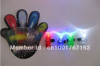 Colorful laser finger ring light, cheer props