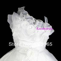 2013 new style ball gown flowers beading flower girl dresses