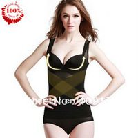 Free Shipping X-Shape Breathable Bodi Slimming Corset Tops Thin Gauze Beauty Seamless Black Shaper