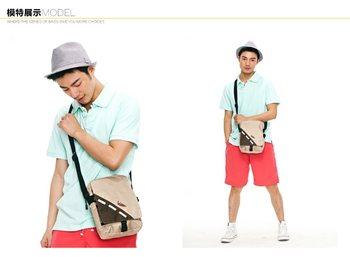 VANCL 2013 NEW Fashion Unisex Messenger Bags Konner Retro Shoulder Bags Nylon Stylish Casual Bags Red/Khaki FREE SHIPPING