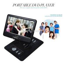 "DHL Free Shipping 15"" inch Portable DVD Player TV USB Card Reade Game FM Radio Swivel LCD VGA RMVB US Fast Shipping MP0298(China (Mainland))"