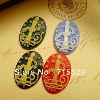 Free shipping 18*25mm Resin candle skull Cameo Cabochon Jewelry Decoration DIY Accessory for Necklace Pendant 100pcs/lot
