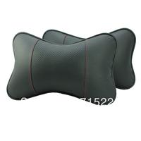 Genuine leather car headrest neck pillow car headrest kaozhen bone pillow a pair Free Shipping