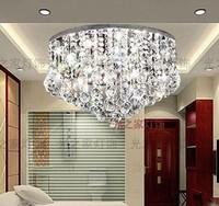 K9 crystal led ceiling light living room ceiling crystal lamp restaurant lamp modern bedroom lights 5318 remote control