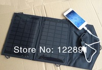 Portable Solar Charger For Mobile Phones+7watt Solar Panel Battery Charger+2xSolar Cells+USB Data Cable Charging Free Shipping