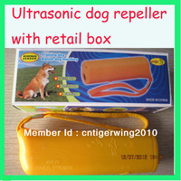 4pcs/lot 3 in 1 Ultrasonic dog repeller chaser and traing high quality with LED light