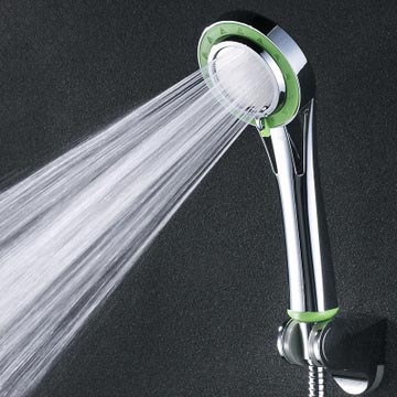 free shipping pressurized water saving ABS with chrome plated hand-held multi-functions shower head,HR370(China (Mainland))