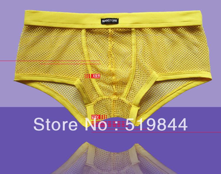 Male panties manstore mesh boxer shorts transparent panties men's sexy underwear gay(China (Mainland))