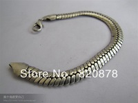 Wholesale Tibet tibetan miao silver hand carved Men `s chain bracelet fashion jewelry # 002