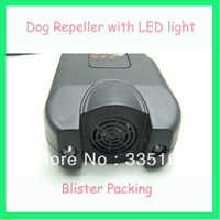 2pcs/lot Portable Ultrasonic dog trainer and repeller with LED light 3 in 1 blister packing
