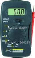 M300 DMM Pocket-size Mini digital multimeter Buzzer function LCD Digital Voltmeter Ammeter Ohm Multimeter