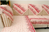Hot seling pink sectional sofa/double towel plaid/pink sofa cover