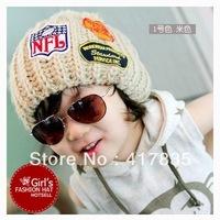 2013 new children's knitted wool cap Winter wool hats for children parent-child cap 4 colors