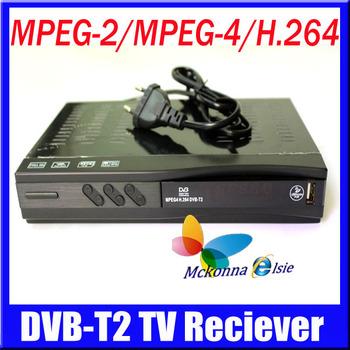 DVB-T2 Digital Terrestrial TV Receiver,Set Top Box Support Russia Menu High Definition MPEG2/4 H.264 DVB T USB/HDMI Freeshipping
