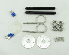 Car Racing Engine Bonnet Bullet Hood Pin Flip Over Security Lock Kit Set Universal Blue(China (Mainland))